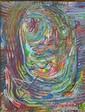 William Leizman oil on canvas, abstract