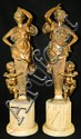 Pair of bronze figural sculptures