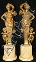 Pair of bronze figural sculptures