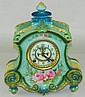 Ansonia mantle clock in Royal Bonn porcelain case