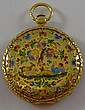 14 kt. gold enameled pocket watch