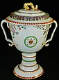 Chinese Export hand painted porcelain urn