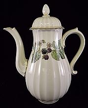 Royal Worcester Tea Pot with Berry Decoration