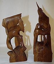 Pair of Carvings Marked Terbikin Isadera Masbali