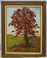 B. J. Horton Oil on Canvas of Tree