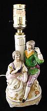 Occupied Japan Figural Porcelain Lamp