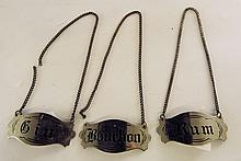 Group of Three Bottle Tags