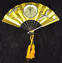 Decorative Oriental Design Clock Marked TOYO