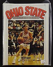 Autographed Ohio State Basketball Magazine