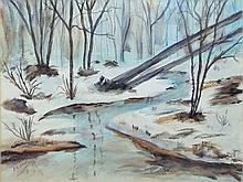 J. C. Gage, Watercolor, Landscape