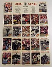 Ohio State Players & Coaches Poster w/Autographs