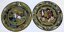 Two Buffalo Pottery Deldare Ware Plates