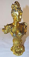 Gilt Decorated Head Bust