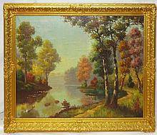 A. Moffat Oil on Canvas Landscape