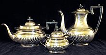 Three Piece English Silver Plate Tea Set
