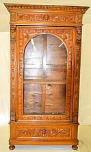 Ornately Carved Victorian Bookcase