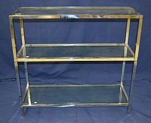 Chrome and Glass Three Tier Shelf