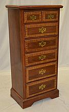 Inlaid Six Drawer Lingerie Chest