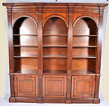 Bookcase with Three Doors in Base