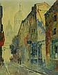 Artist signed oil on canvas city scene
