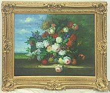 Flower Still Life O/C Signed F. Madalena