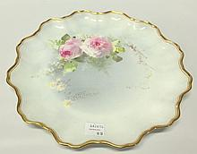 Royal Doulton Floral Plate Signed W. Slater