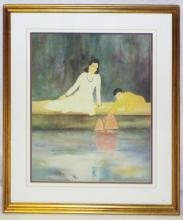 Framed Print Of Mother And Son