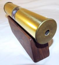 Hand Made Brass Kaleidoscope With Wood Stand
