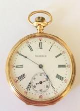 14k Gold Waltham 17 Jewel Pocket Watch