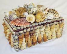 Shell Decorated Storage Box