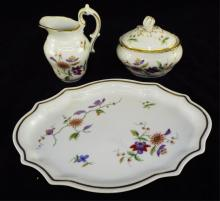 Richard Ginori Three Piece Porcelain Set