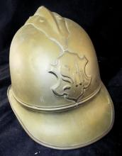 Brass Helmet With Leather Lined Interior