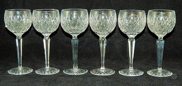 Set of 11 Waterford wineglasses