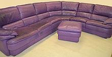 Purple Leather Sectional