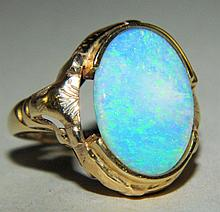 10K Gold Ring with Opal
