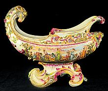 Capodimonte Hand Painted Porcelain Center Bowl