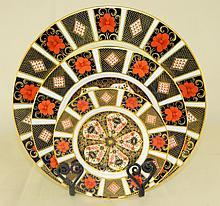 Grouping of 3 Royal Crown Derby Plates