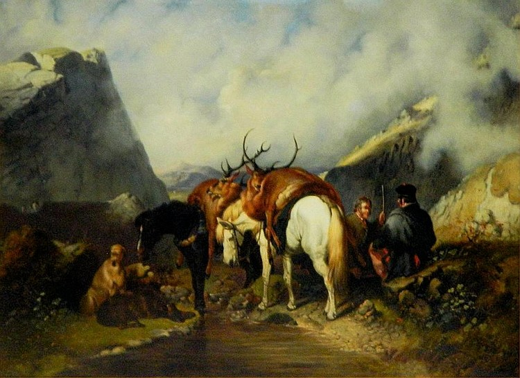 John Frederick Herring Sen. Oil on Canvas