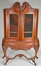 Carved Two Door One Drawer Cabinet