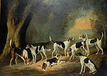 Thomas Gooch Oil on Canvas of Dogs