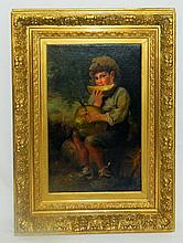 The Melon Boy 19th Century Oil Painting