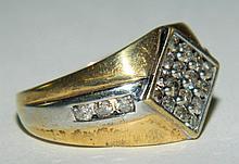 Diamond & 10K Gold Ring