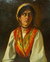 Portrait of a Gypsy Oil Painting