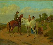 Early Continental Genre Oil Painting