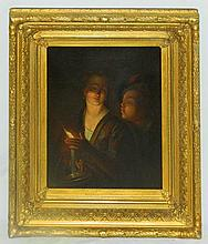 Attributed to Petrus van Schendel Lady with Candle