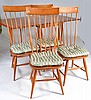Drop Leaf Modern Table with 4 Windsor Back Chairs
