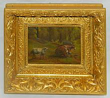 Steer and Sheep Oil on Board