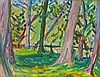 Emile Sabouraud Modernist Landscape Painting