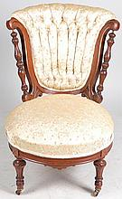 Carved Upholstered Side Chair