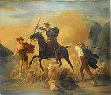Victor Adam Oil Painting Battle Scene